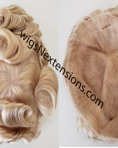 Toupees/Hairpiece, WNE-101H, Full French Lace, 100 % High Quality Remy Human Hair for Men