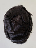 Toupees/Hairpiece, WNE-301A, With- 3 Clips, Mono in Center with Poly Coating around