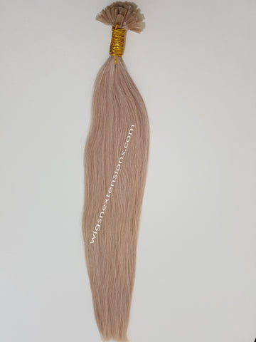 Nail/U Tip Hair Extensions Colour #60  High Grade   24 Inches