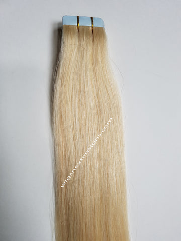 Tape In Remy Human  Hair Extensions Grade 8A  Colour # 613
