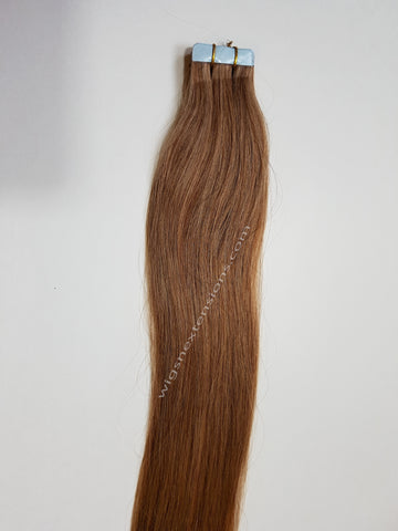 Tape In Remy Human  Hair Extensions Grade 8A  Colour # 10  Light Caramel