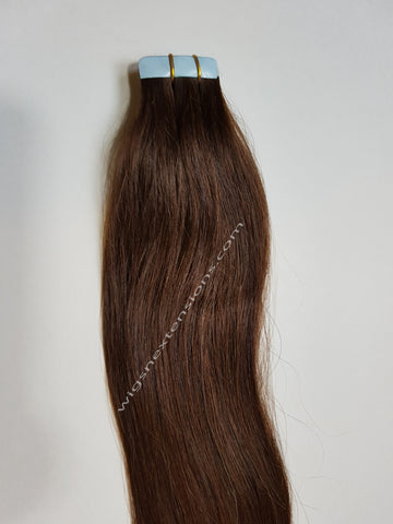 Tape In Remy Human  Hair Extensions Grade 8A  Colour # 2 Dark Brown