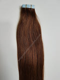 Tape In Remy Human  Hair Extensions Grade 8A  Colour # 4 Chocolate Brown