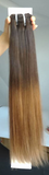 Clip In 100%  High Quality REMY HUMAN HAIR Extensions Color #2T8