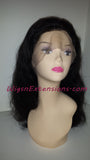 Lace Front (Swiss) Lace Wig BodyWave Natural Black  (1B ) GLUELESS