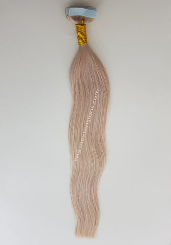 Tape In Remy Human  Hair Extensions High Grade Colour # 60 High Grade 24 Inches