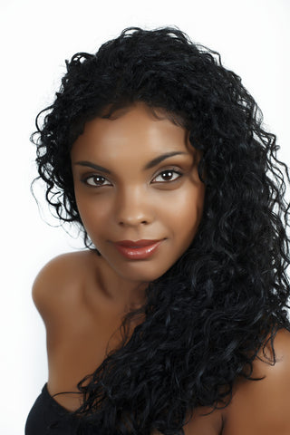 "SilkTop GlueLess Wig, Colour Natural Black ( 1B )  CURLY   28"" (Inches)"