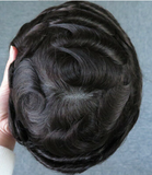 Toupees/Hairpiece, WNE-301, Mono in Center with Poly Coating around.