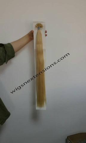Nail/U Tip Hair Extensions Colour Bleach Blonde #613 Grade 8A  22 Inches