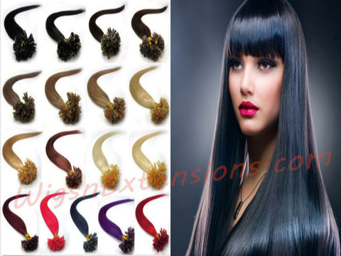 "Nail/U Tip Hair Extensions Pack 50 Strands =50 Grams, Weight 1.0g/strand  22"" inches  Grade 4A (Various colours available)   ON SALE"