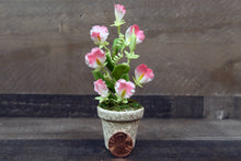 Clay Flowers Handmade Mini White/Pink Sweet Pea Cute Hand Painted Flower
