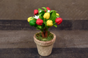 Clay Flowers Handmade Mini Bell Pepper Cute Hand Painted Flower