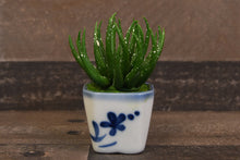 Handmade Clay Succulent Plants Mini Green Flower Cute Hand Painted