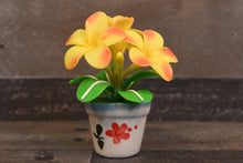 Clay Flowers Handmade Mini Yellow Plumeria Hawaiian Flower Cute Hand Painted