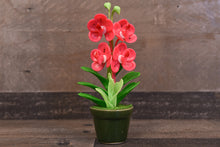 Clay Flowers Art Handmade Mini Orchid Pink Vanda Pannee Cute Hand Painted Flower
