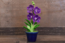 Clay Orchids Art Handmade Mini Orchid Purple Vanda Pannee Cute Hand Painted Flower