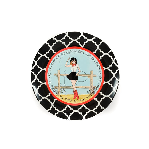 Southern Sass Ceramic Plate - Brunette