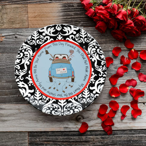 Just Married Ceramic Plate