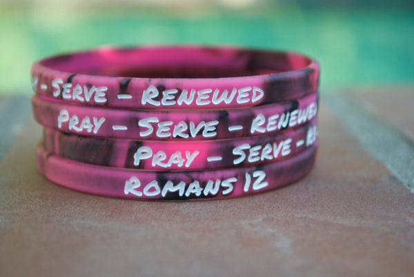 Pray - Serve - Renewed bracelets