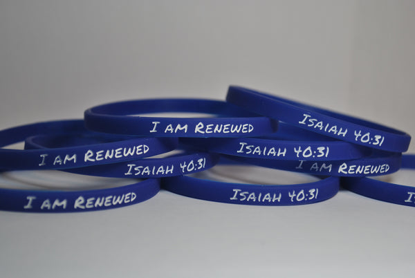 I am Renewed ~ Isaiah 40:31 silicone bracelets