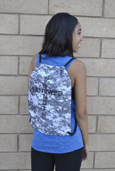 White Snow Camo Sports bag