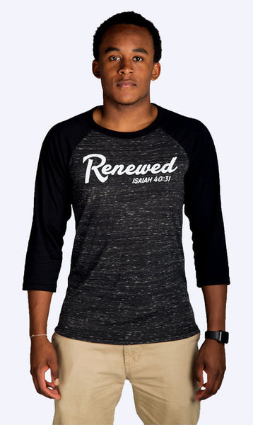 Renewed Cursive 3/4th Sleeve Baseball Tee (Unisex)