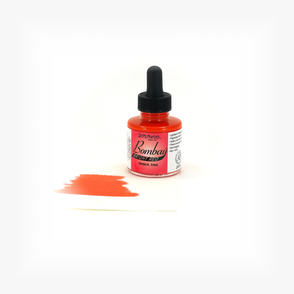 Dr. Ph. Martin's Bombay India Ink, 1.0 oz, Bright Red