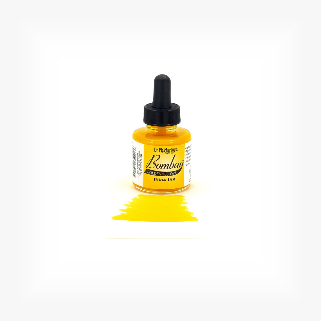 Dr. Ph. Martin's Bombay India Ink, 1.0 oz, Golden Yellow