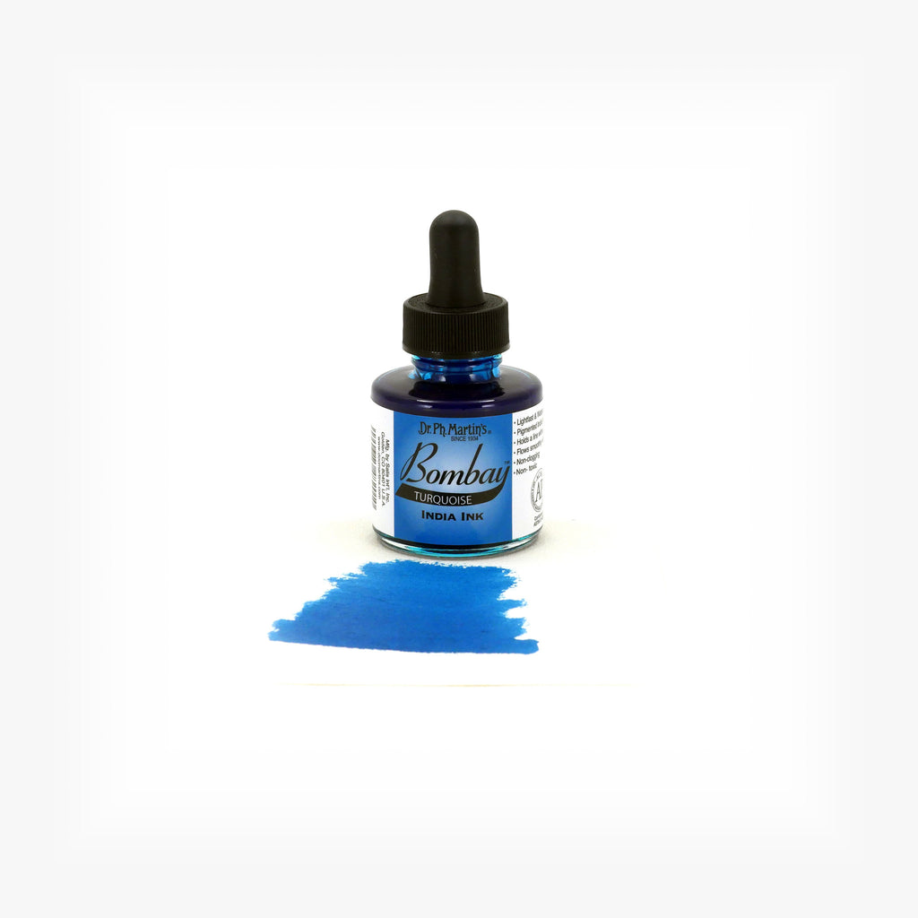 Dr. Ph. Martin's Bombay India Ink, 1.0 oz, Turquoise