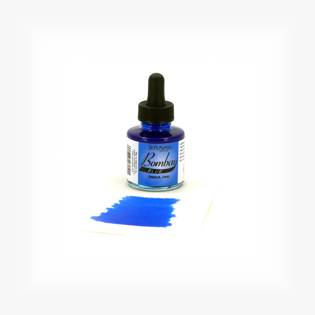 Dr. Ph. Martin's Bombay India Ink, 1.0 oz, Blue