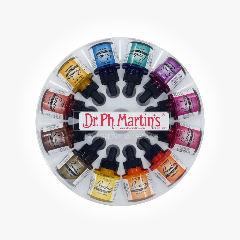 Dr. Ph. Martin's Bombay India Ink, 1.0 oz, Set of 12 (Set 2)