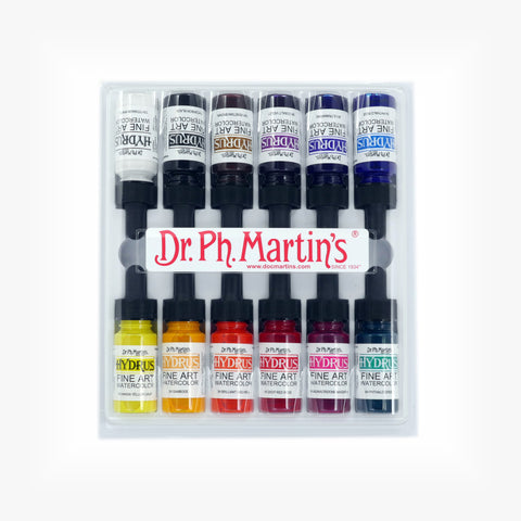 Dr. Ph. Martin's Hydrus Fine Art Watercolor, 0.5 oz, Set of 12 (Set 1)