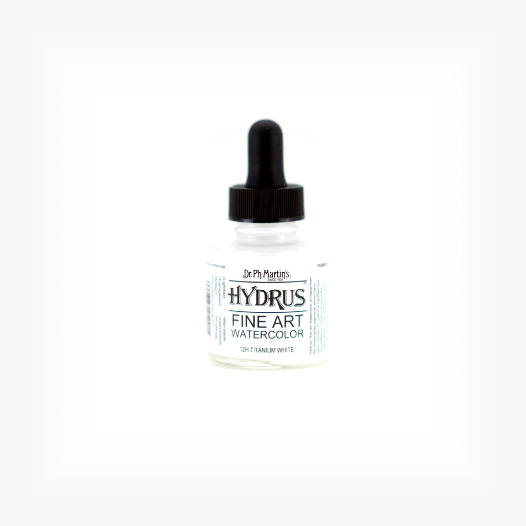 Dr. Ph. Martin's Hydrus Fine Art Watercolor, 1.0 oz, Titanium White (12H)