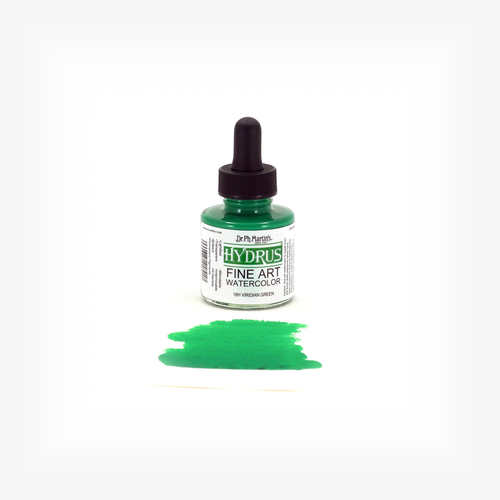 Dr. Ph. Martin's Hydrus Fine Art Watercolor, 1.0 oz, Viridian Green (18H)