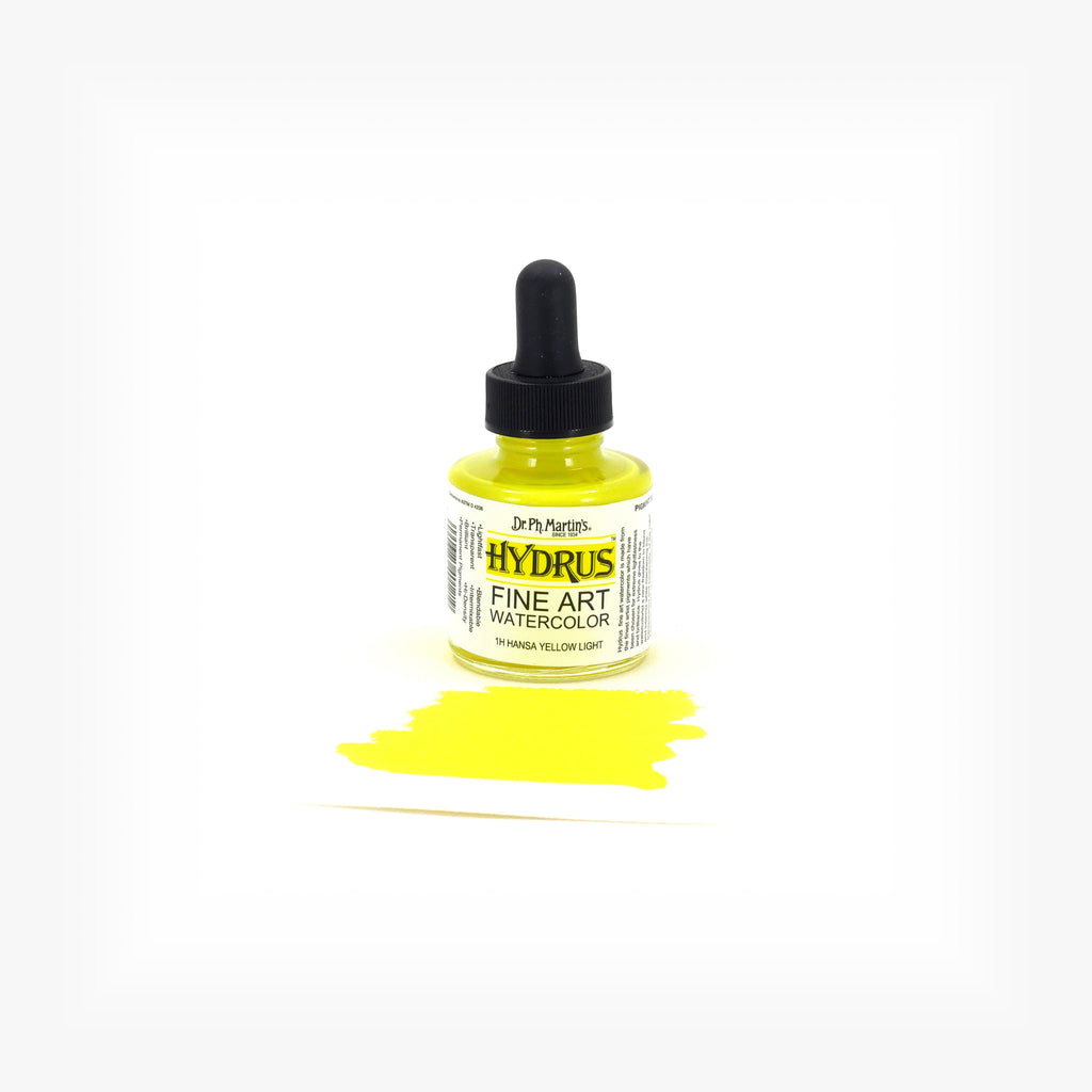 Dr. Ph. Martin's Hydrus Fine Art Watercolor, 1.0 oz, Hansa Yellow Light (1H)