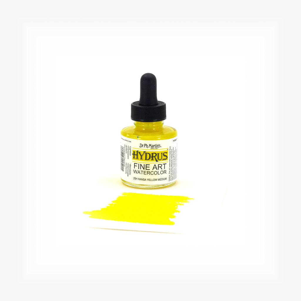 Dr. Ph. Martin's Hydrus Fine Art Watercolor, 1.0 oz, Hansa Yellow Medium (25H)