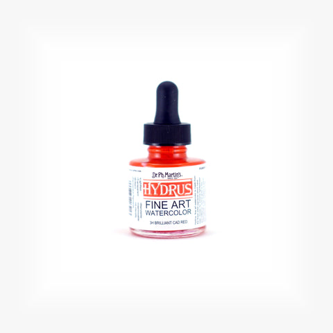 Dr. Ph. Martin's Hydrus Fine Art Watercolor, 1.0 oz, Brilliant Cad Red (3H)