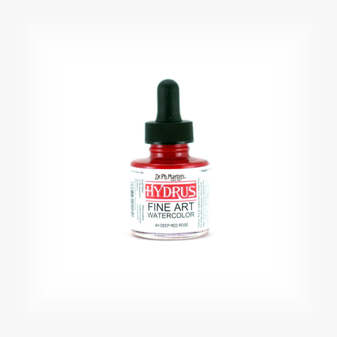 Dr. Ph. Martin's Hydrus Fine Art Watercolor, 1.0 oz, Deep Red Rose (4H)