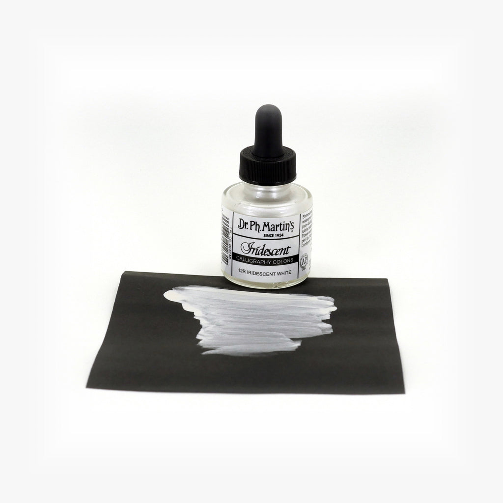 Dr. Ph. Martin's Iridescent Calligraphy Color, 1.0 oz, Iridescent White (12R)