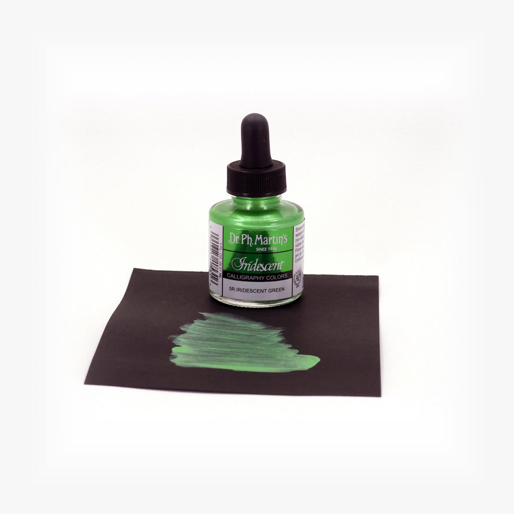 Dr. Ph. Martin's Iridescent Calligraphy Color, 1.0 oz, Iridescent Green (5R)