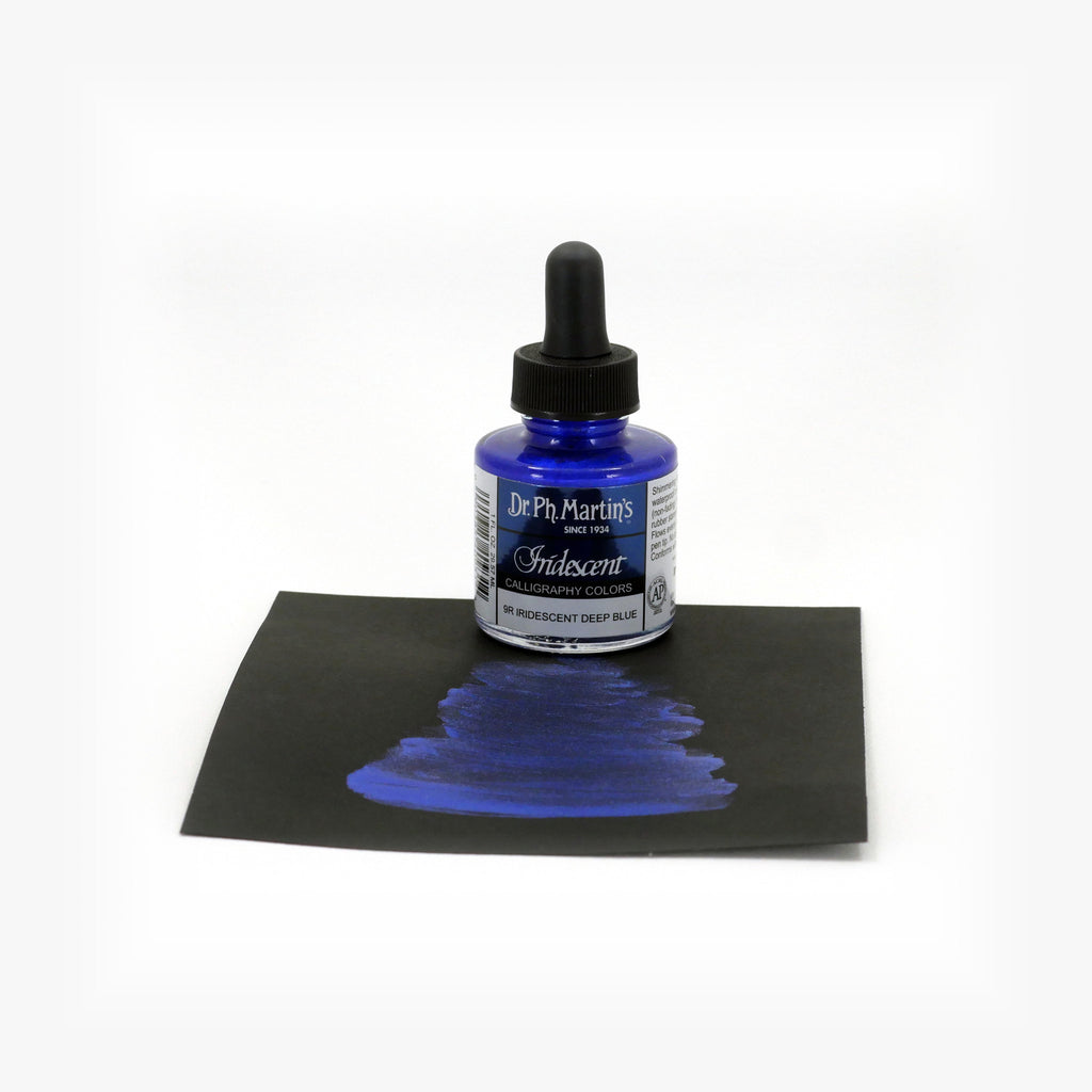 Dr. Ph. Martin's Iridescent Calligraphy Color, 1.0 oz, Iridescent Deep Blue (9R)