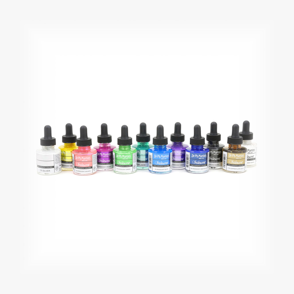 Dr. Ph. Martin's Iridescent Calligraphy Color, 1.0 oz, Set of 12 (Set 1)