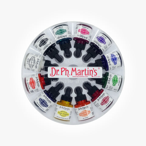Dr. Ph. Martin's Spectralite Private Collection Liquid Acrylics, 1.0 oz, Set of 12 (Set 1)