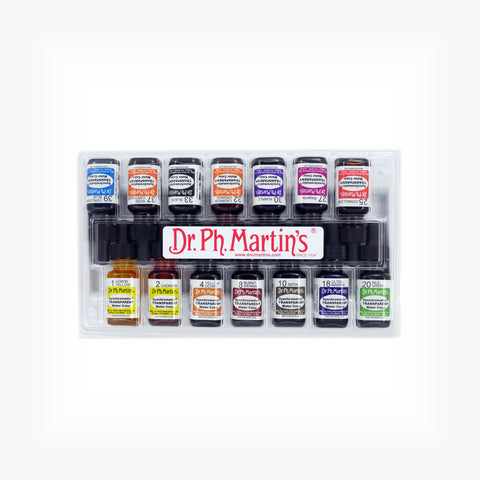 Dr. Ph. Martin's Synchromatic Transparent Water Color, 0.5 oz, Set of 14 (Student Art Set)