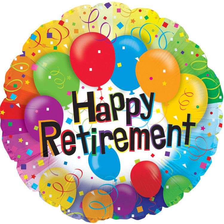 "18"" Happy Retirement Foil Balloon"