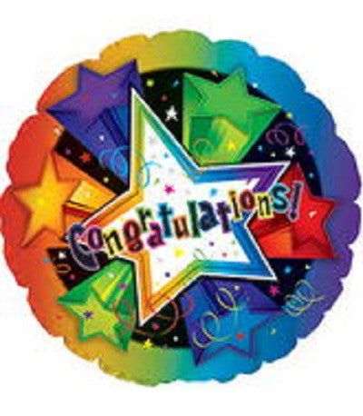 "18"" 3-D Star Congratulations Foil Balloon"