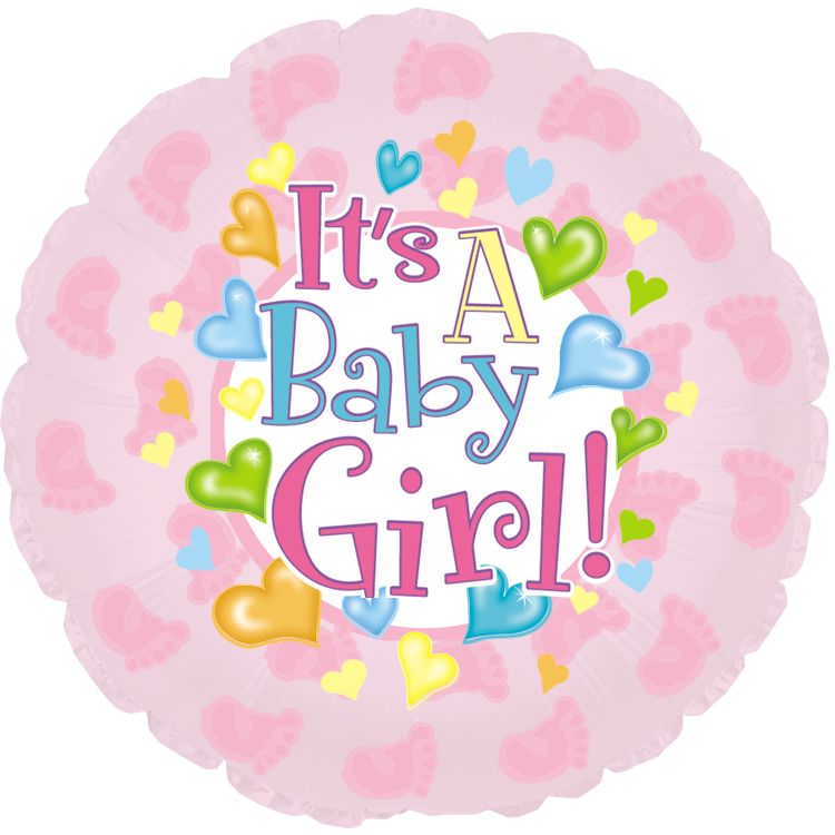 "18"" Baby Girl Foil Balloon"