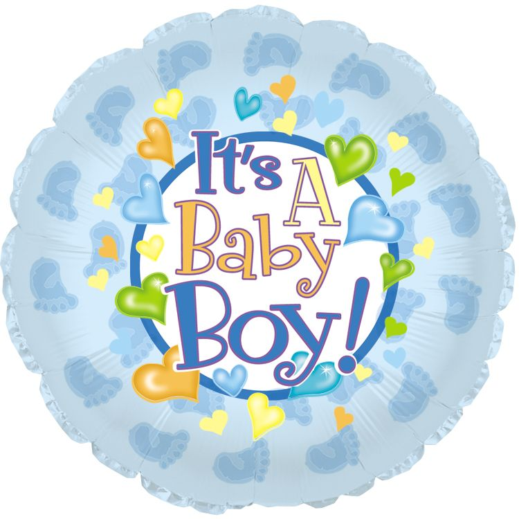 "18"" Baby Boy Footsies Foil Balloon"