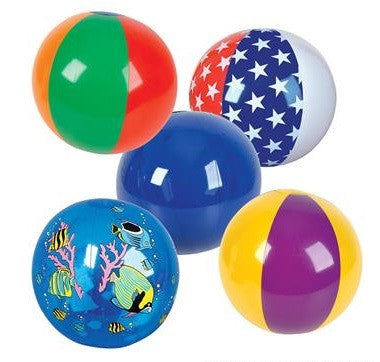 "16"" Beach Ball Assortment 6 Ct"