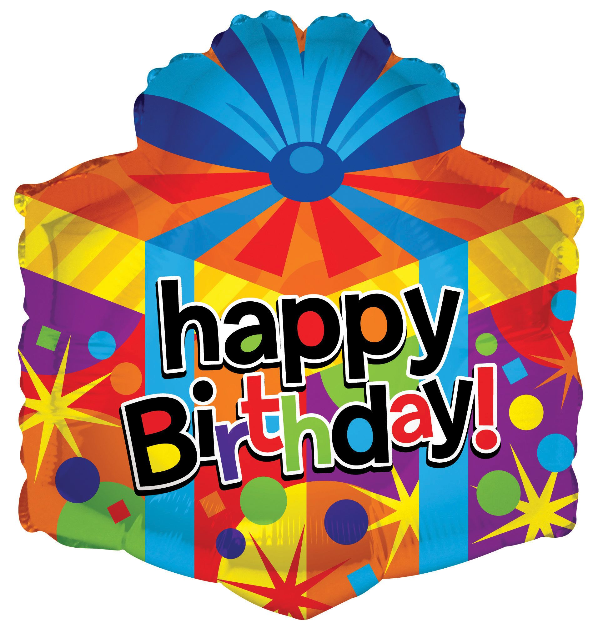18 Happy Birthday Gift Box Foil Balloon Jax Party Supply And Rental